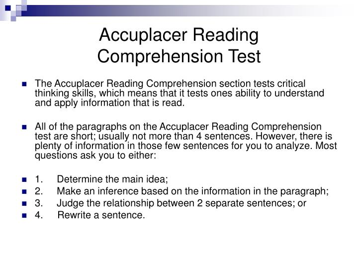 Accuplacer Essay Questions