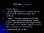 PHIL 160: Lecture 2