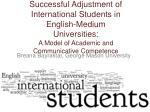 Successful Adjustment of International Students in English-Medium Universities: A Model of Academic and Communicative Co
