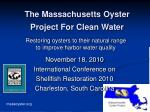 The Massachusetts Oyster Project For Clean Water