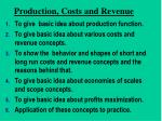 Production Cost & Revenue