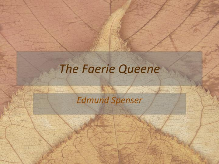 the faerie queene n.