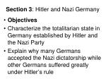 Section 3 : Hitler and Nazi Germany