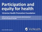 Participation and equity for health