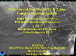 Colorado and New Mexico Early Action Compact Modeling Analysis Ralph Morris and Gerard Mansell ENVIRON International Cor