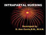INTRAPARTAL NURSING