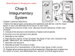 Chap 5  Integumentary System