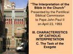 """""""The Interpretation of the Bible in the Church"""" Presented by the Pontifical Biblical Commission to Pope John"""