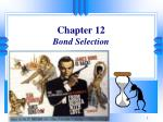 Chapter 12 Bond Selection