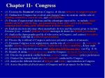 Chapter 11-  Congress