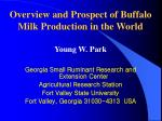 Overview and Prospect of Buffalo Milk Production in the World