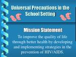 Universal Precautions in the School Setting