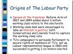 Origins of The Labour Party