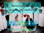 Moroccan wedding customs and traditions