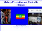 Malaria Prevention and Control in Ethiopia