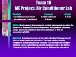 Team 10 ME Project: Air Conditioner Lab