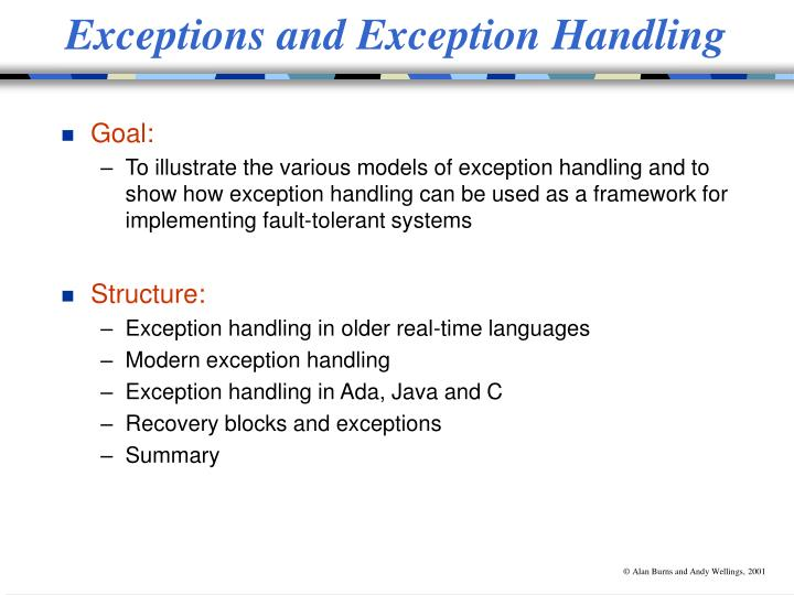 exceptions and exception handling n.
