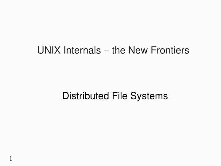 unix internals the new frontiers n.