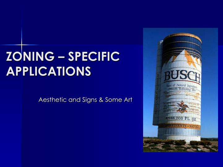 zoning specific applications n.