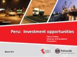Peru: Investment opportunities
