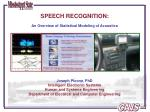 SPEECH RECOGNITION: