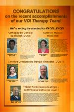 CONGRATULATIONS on the recent accomplishments of our VOI Therapy Team !