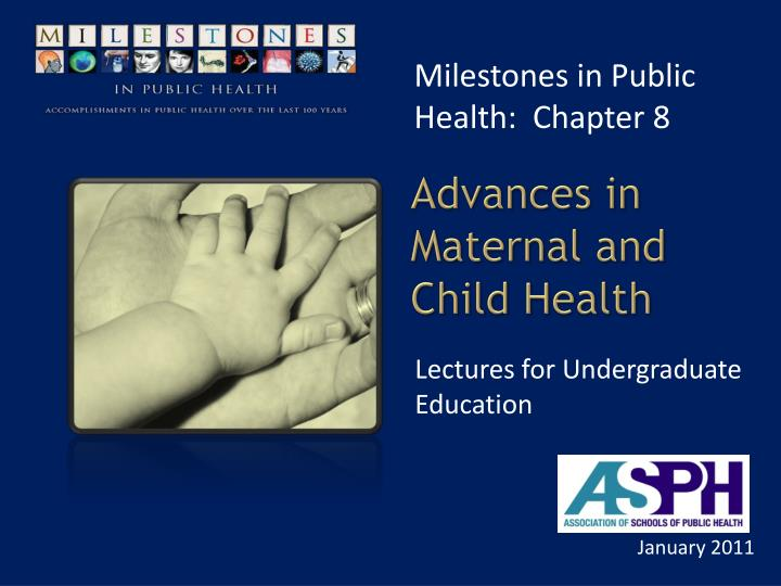 advances in maternal and child health n.
