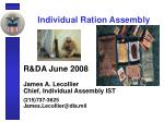Individual Ration Assembly
