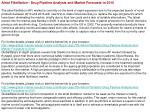 Atrial Fibrillation - Drug Pipeline Analysis and Market Fore