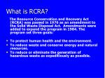 What is RCRA?