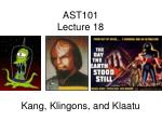 AST101 Lecture 18