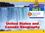 Unit 1 United States and Canada Geography