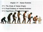 Chapter 17:  Human Evolution