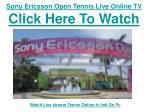 Watch Sony Ericsson Open Tennis 2011 | live Streaming Single