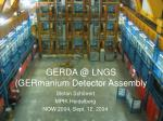 GERDA @ LNGS (GERmanium Detector Assembly