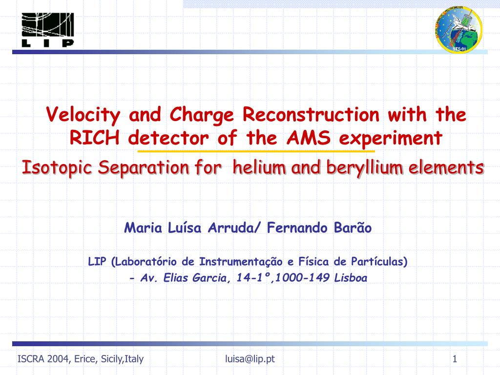 Ppt Velocity And Charge Reconstruction With The Rich