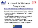 Main intervention areas The HIV/AIDS workplace Priority Components: Prevention, Education and Awareness Comprehensive He