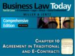 Chapter 10 Agreement in Traditional and E-Contracts