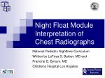 Night Float Module Interpretation of Chest Radiographs