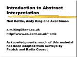 Introduction to Abstract Interpretation
