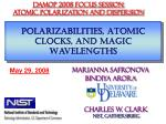 Polarizabilities, Atomic Clocks, and Magic Wavelengths