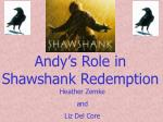 Andy's Role in Shawshank Redemption