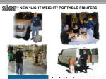 """NEW """"Light Weight"""" Portable Printers"""