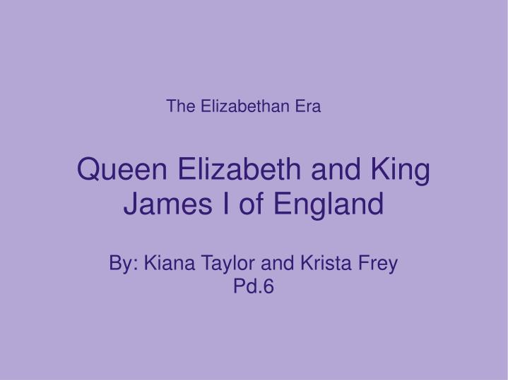 queen elizabeth and king james i of england n.