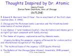 Thoughts Inspired by Dr. Atomic
