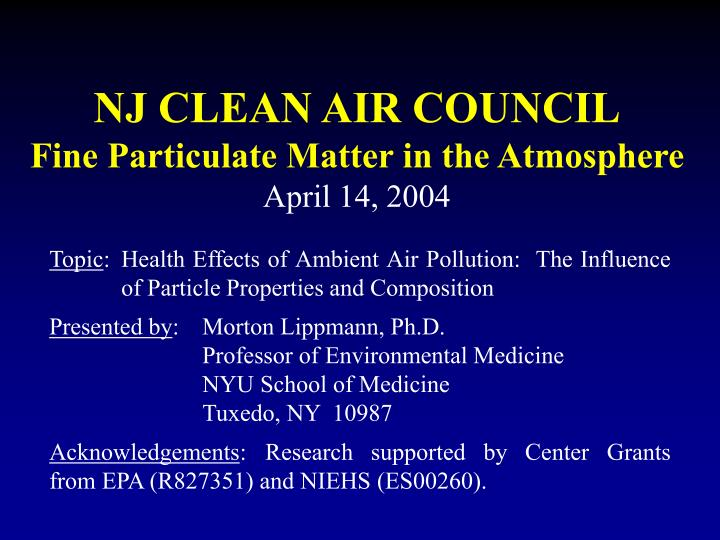 nj clean air council fine particulate matter in the atmosphere april 14 2004 n.