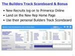 The Builders Track Scoreboard & Bonus