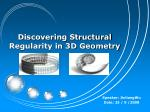 Discovering Structural Regularity in 3D Geometry