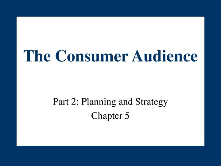 the consumer audience n.