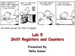 Lab 5 Shift Registers and Counters